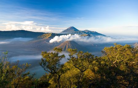 Mt Bromo taken in East Java, Indonesia Stock Photo