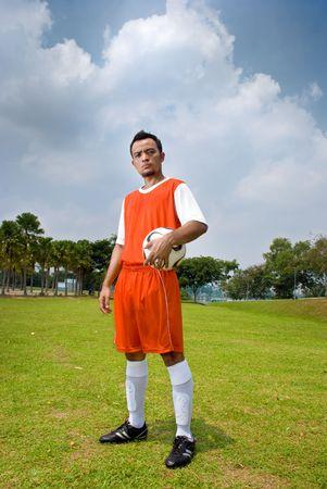 サッカー選手 写真素材