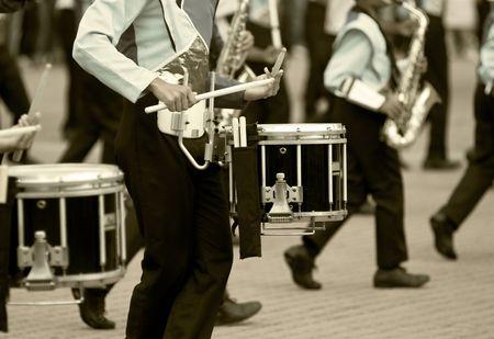マーチング バンドのドラム 写真素材