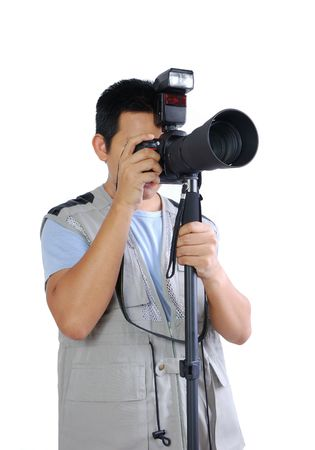 telezoom: Photographer taking picture