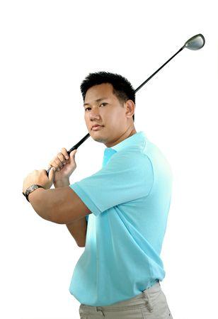 Golfing Stock Photo