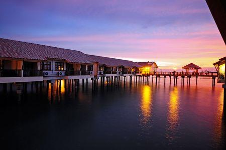 水の家の夕暮れ