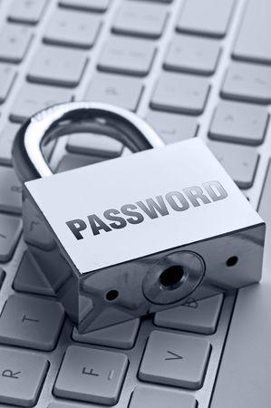 Padlock with password wording