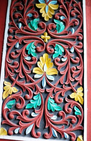 Indonesia wood carvings photo