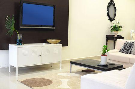 lcd: Living room Stock Photo