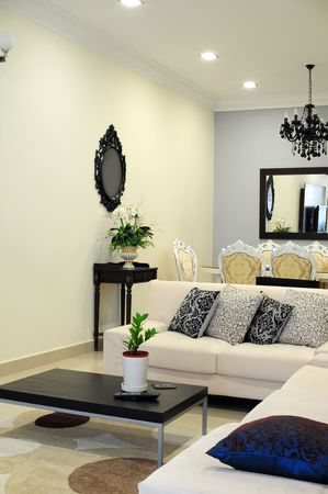 interior living: Living room Stock Photo