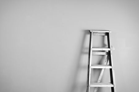 Ladder on the wall Stock Photo