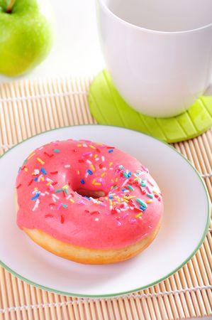 Donut for breakfast photo