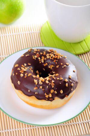 Chocolate chip donut photo