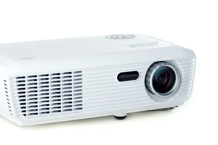 DPL projector on white background photo