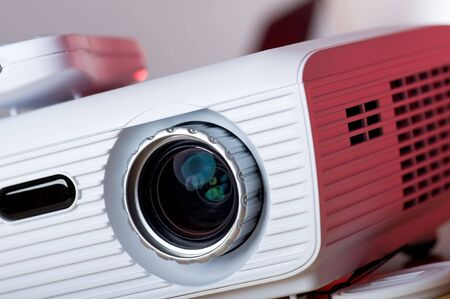 Close up picture of high definition projector photo