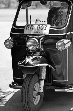 Chiang Mai, Thailand - May, 12 2012 : Tuk Tuk is one of the famous taxi in Thailand