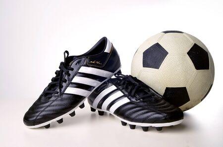 adidas: Kuala Lumpur, Malaysia - March, 06 2011: Studio shoot of adidas, AdiNova series football boot