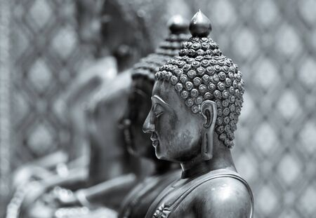 buddah: Buddha statue in black and white