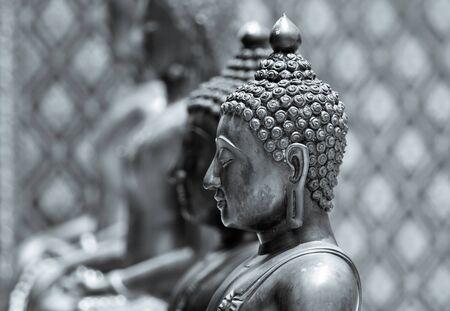 budha: Buddha statue in black and white
