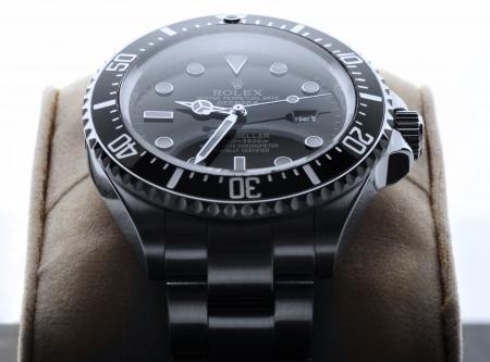 branded: Kuala Lumpur, Malaysia - June, 14 2012: Close up picture of ROLEX DEEPSEA wristwatch