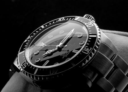 wristwatch: Kuala Lumpur, Malaysia - June, 14 2012: Close up picture of ROLEX DEEPSEA wristwatch