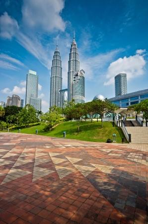 マレーシアのクアラルンプールのペトロナス ツイン タワー