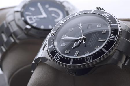 watches: Kuala Lumpur, Malaysia - June, 8 2012: Close up of luxury wristwatches