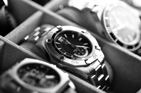 deepsea: Kuala Lumpur, Malaysia - June, 8 2012: Close up of luxury wristwatches