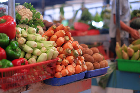 grocer: Fresh vegetables at the market
