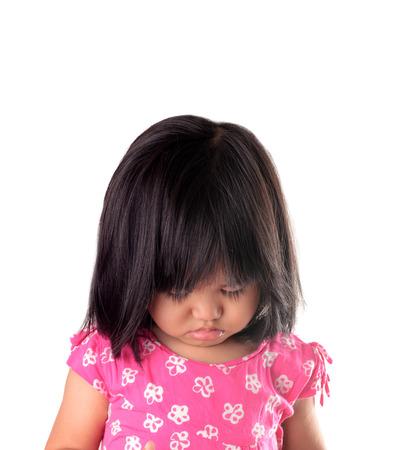 woman looking: Sad girl Stock Photo