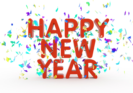 happy new year text: Happy new year text