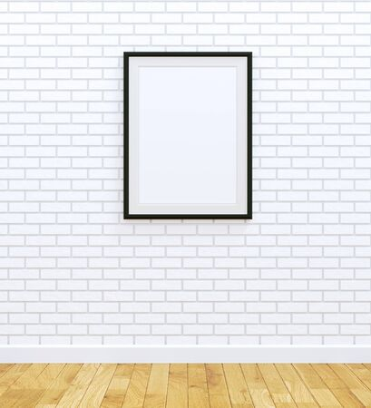 frame wall: Big black frame Stock Photo
