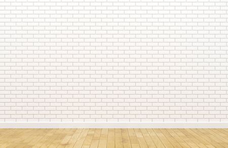 Lege witte bakstenen muur Stockfoto