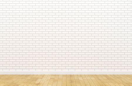Vide mur de briques blanches Banque d'images