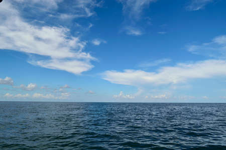 the gulf: Beautiful cloudy sky over the Gulf of Mexico. Stock Photo