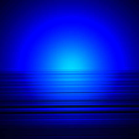 Abstract pattern of blue lines and radial pattern
