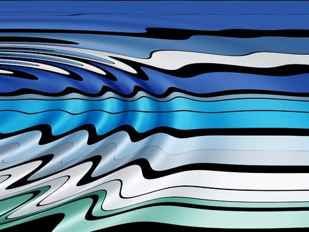 Ripples on abstract line pattern Stock Photo - 235179