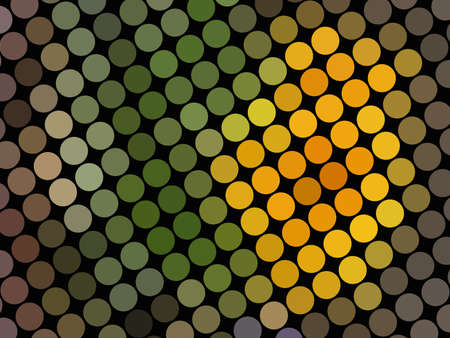 Colored spot pattern on black Stock Photo