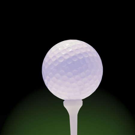White golfball and tee