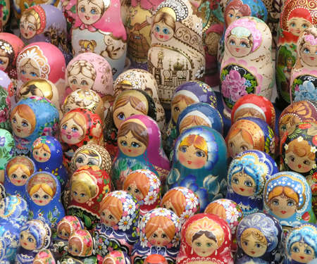 mu�ecas rusas: Filas de mu�ecas rusas