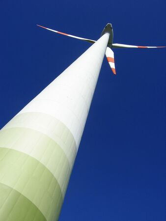Tower with wind generator blades