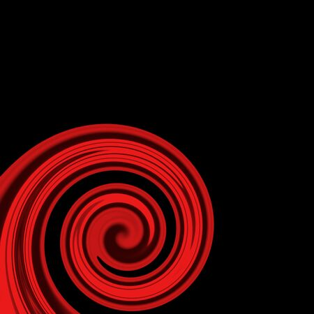 swirling: Red swirling lines on black Stock Photo