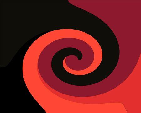 Twirl pattern on black