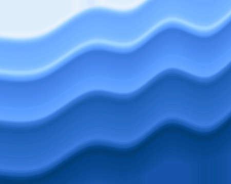 Wavy blue stripes Stock Photo