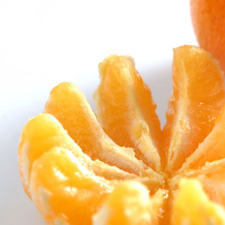 clementine: Clementine segments on white. Stock Photo