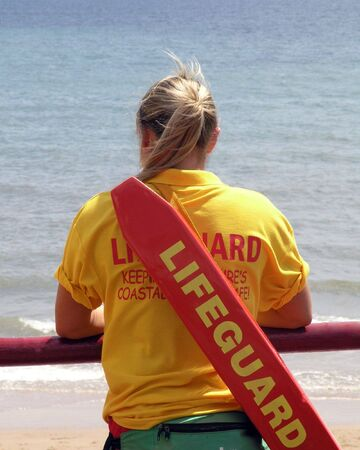 Lifeguard lookout Stock Photo