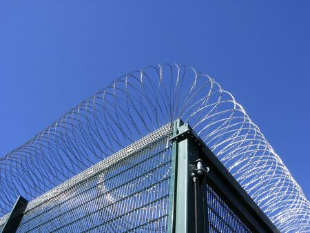 fencing wire: Fencing around German prison