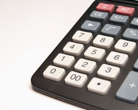 sums: Close-up of calculator keys Stock Photo