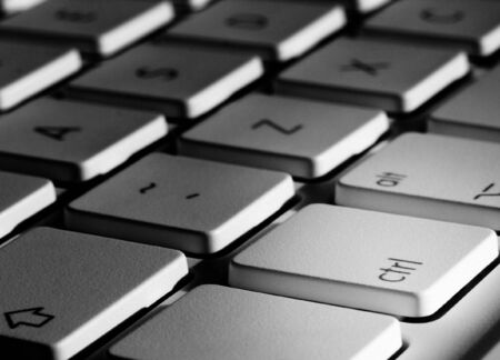 Closeup of laptop keyboard focused on the control key Stock Photo