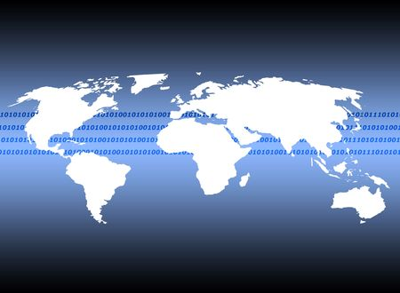 Outline of world map illustrating digital communications stock photo outline of world map illustrating digital communications stock photo 760453 gumiabroncs Image collections