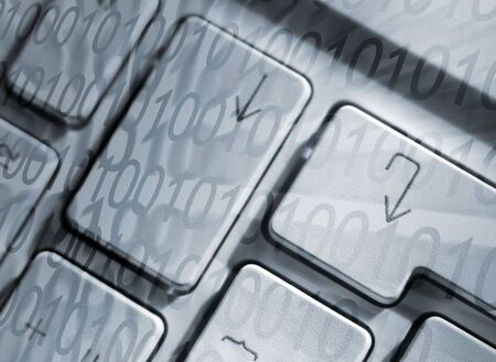Closeup of laptop keys overlaid with number pattern. Stock Photo - 936921