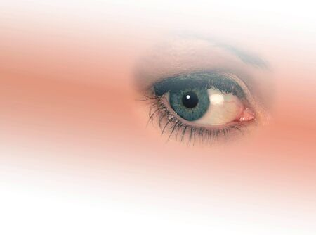 Isolated woman's eye on graduated, faded background Stock Photo - 1150122