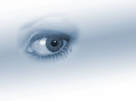 Isolated woman's eye on graduated, faded background Stock Photo - 1150123