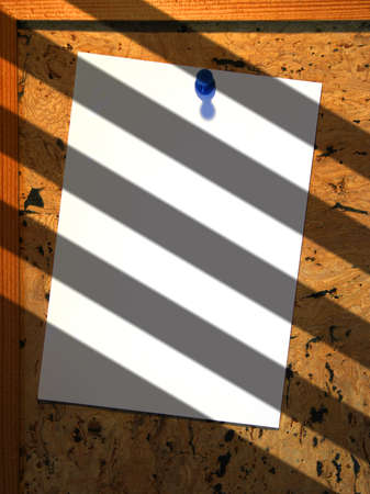 Paper on notice board with shadow effect Stock Photo - 1367089